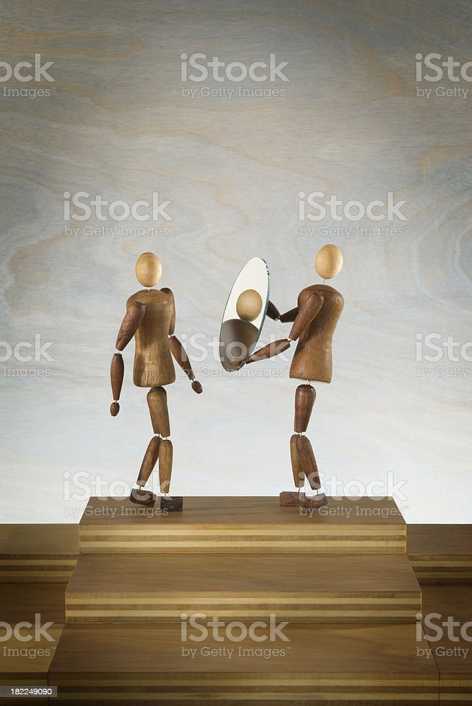 Reflection of Self. royalty-free stock photo