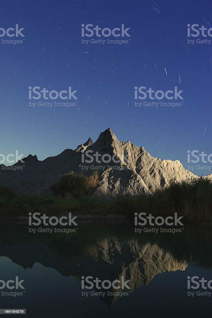 Reflection of Star and Mountain royalty-free stock photo