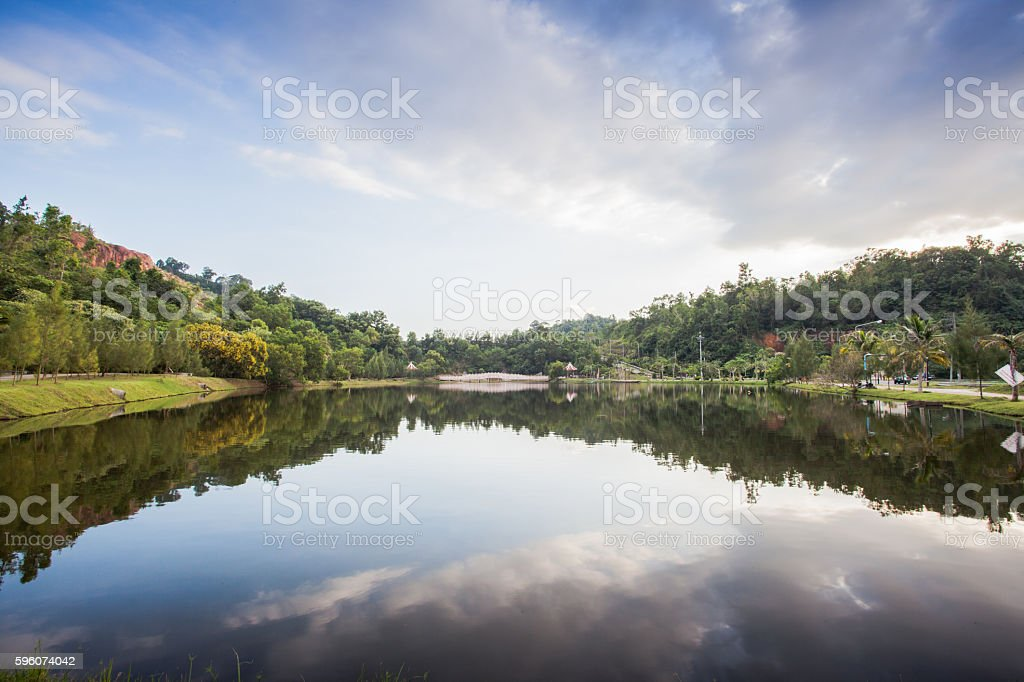 Reflection of Swamp in front of mine museum royalty-free stock photo