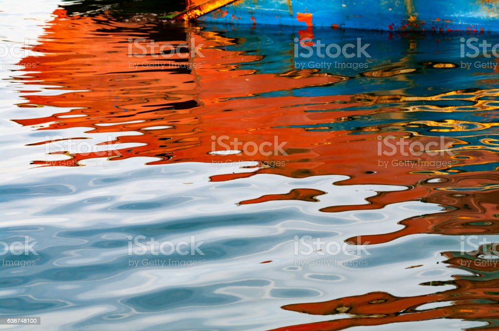 Reflection of the boats in the water – Foto