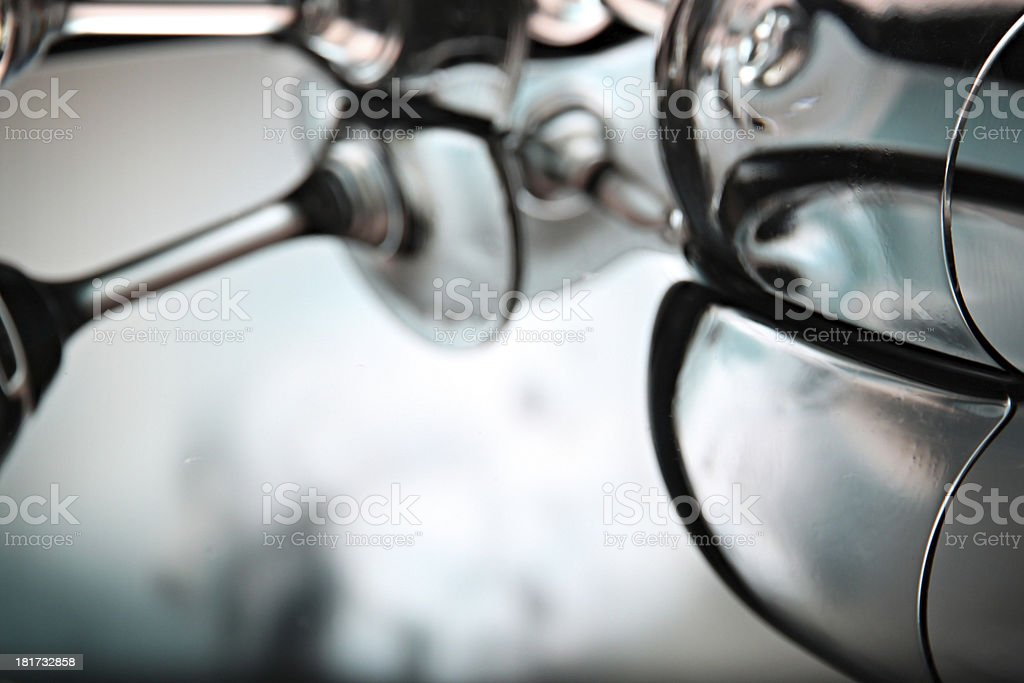 Reflection of the glass in basin. royalty-free stock photo