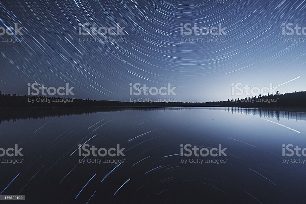 Reflection of the Stars stock photo