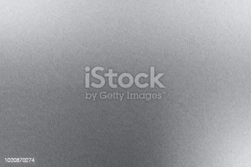 istock Reflection of thin aluminum sheet, texture background 1020870274
