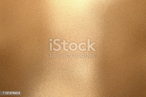Reflection of wave bronze metal, texture background