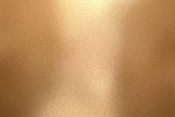 reflexão do metal de bronze da onda, fundo da textura - cromo metal - fotografias e filmes do acervo