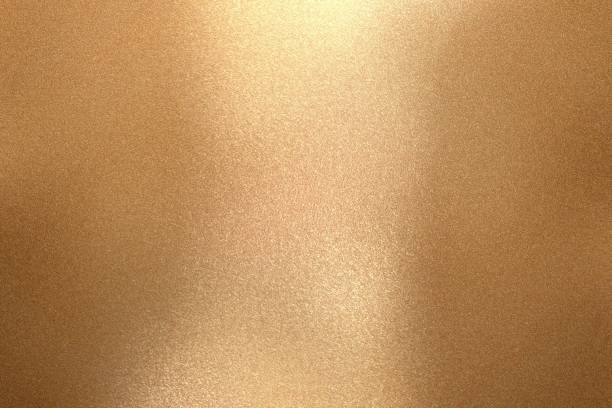 Reflection of wave bronze metal, texture background Reflection of wave bronze metal, texture background nickel stock pictures, royalty-free photos & images