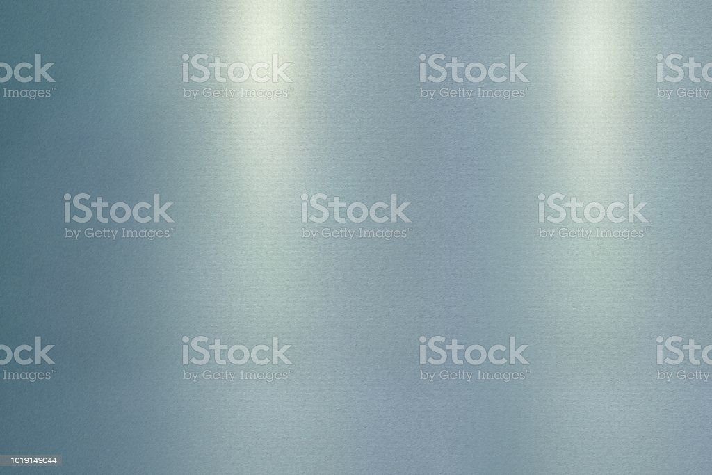 Reflection of wave corrugated blue metallic, texture background stock photo