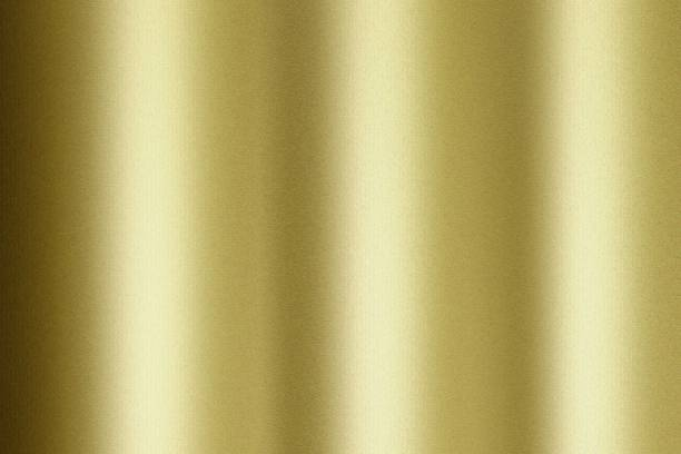 Reflection of wave corrugated gold material, texture background stock photo