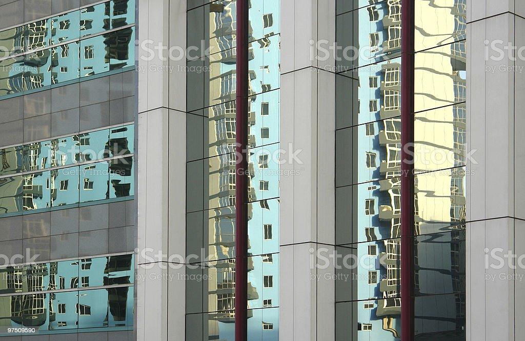 Reflection of windows royalty-free stock photo