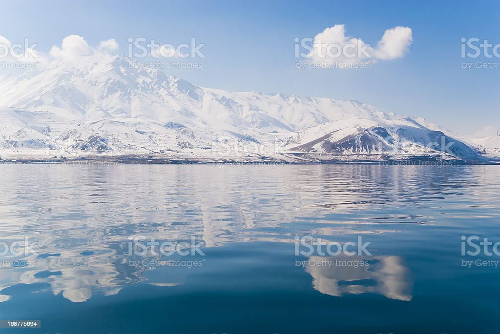 Reflection of Winter stock photo