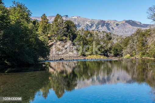 istock Reflection on a mountain river at San Martin de los Andes, Argentina. 1028430098