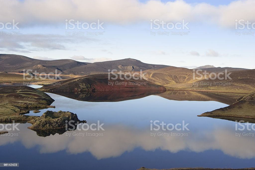 Reflection on Fishing lake in Iceland royalty-free stock photo