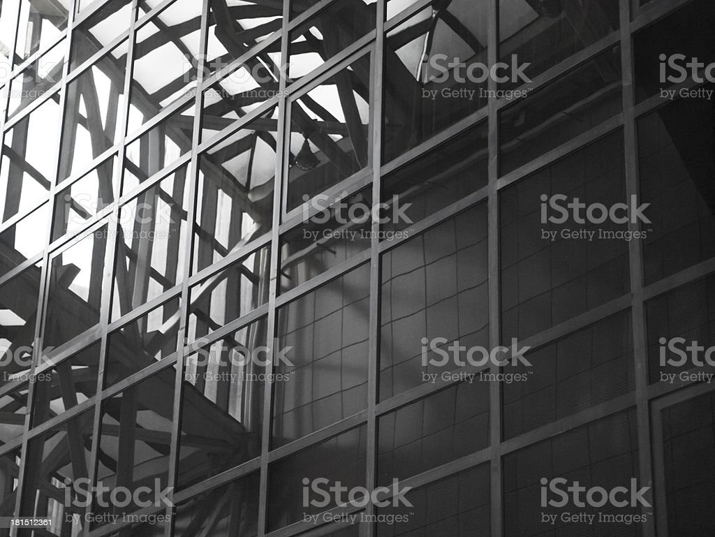 reflection on glass surface royalty-free stock photo