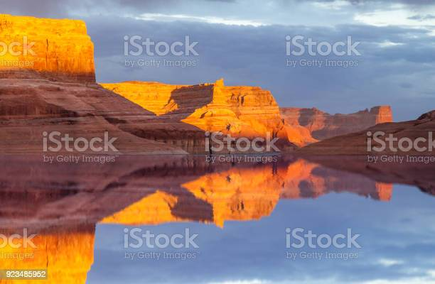 Reflection On Lake Powell Stock Photo - Download Image Now