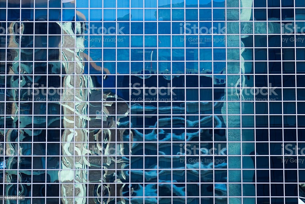 Reflection on office building royalty-free stock photo