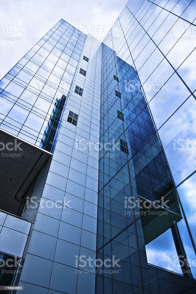 Reflection on the buildings in Brussels. Belgium. royalty-free stock photo