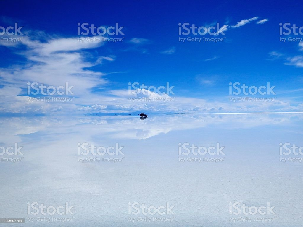 Reflection on the Salar stock photo