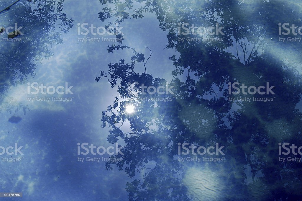 Reflection on water royalty-free stock photo