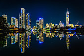The beautiful surfers paradise reflecting on the inland manmade bays! Reflection Perfection!