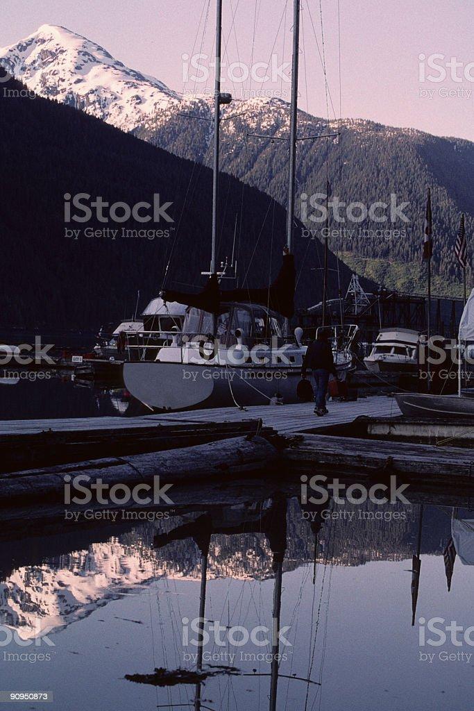 Reflection, Portland Canal stock photo