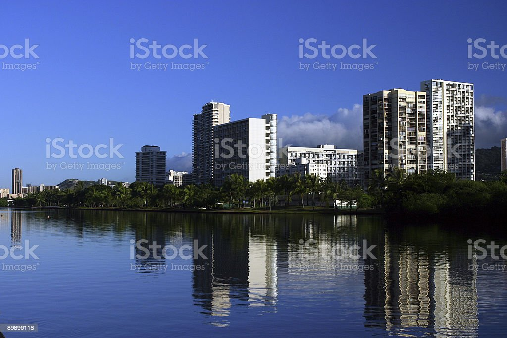 Reflection sight in the morning royalty-free stock photo