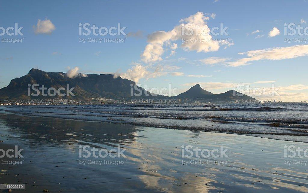 Reflection Table Mountain royalty-free stock photo