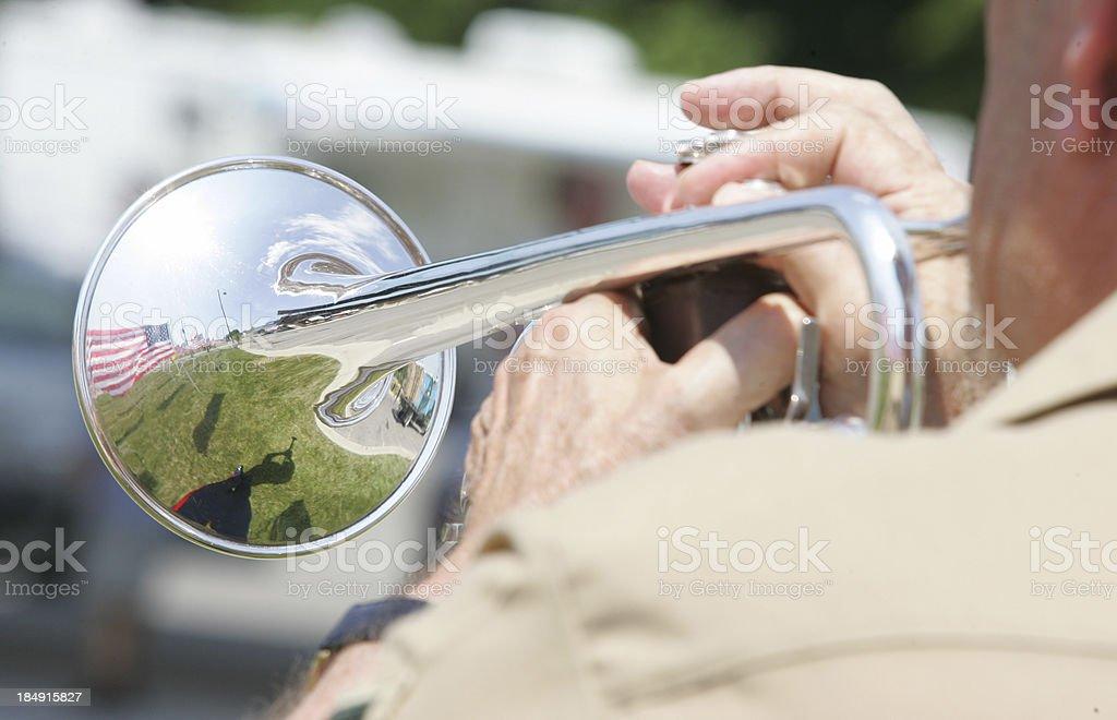 Reflection through a bugle royalty-free stock photo