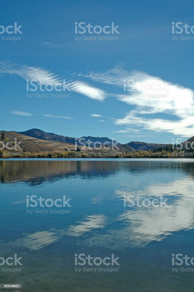 Reflection upon the lake royalty-free stock photo