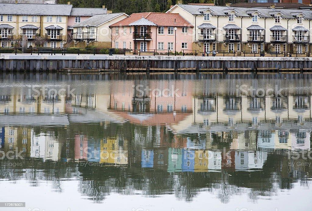 Reflections at Docks, Bristol, UK royalty-free stock photo