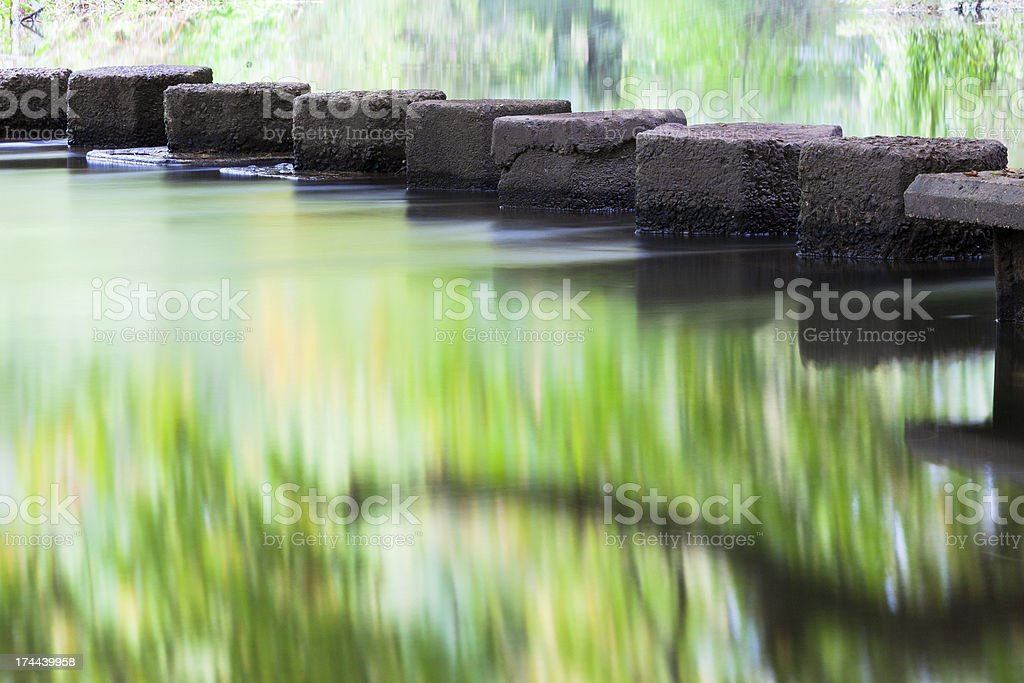 Reflections by Stepping Stones stock photo
