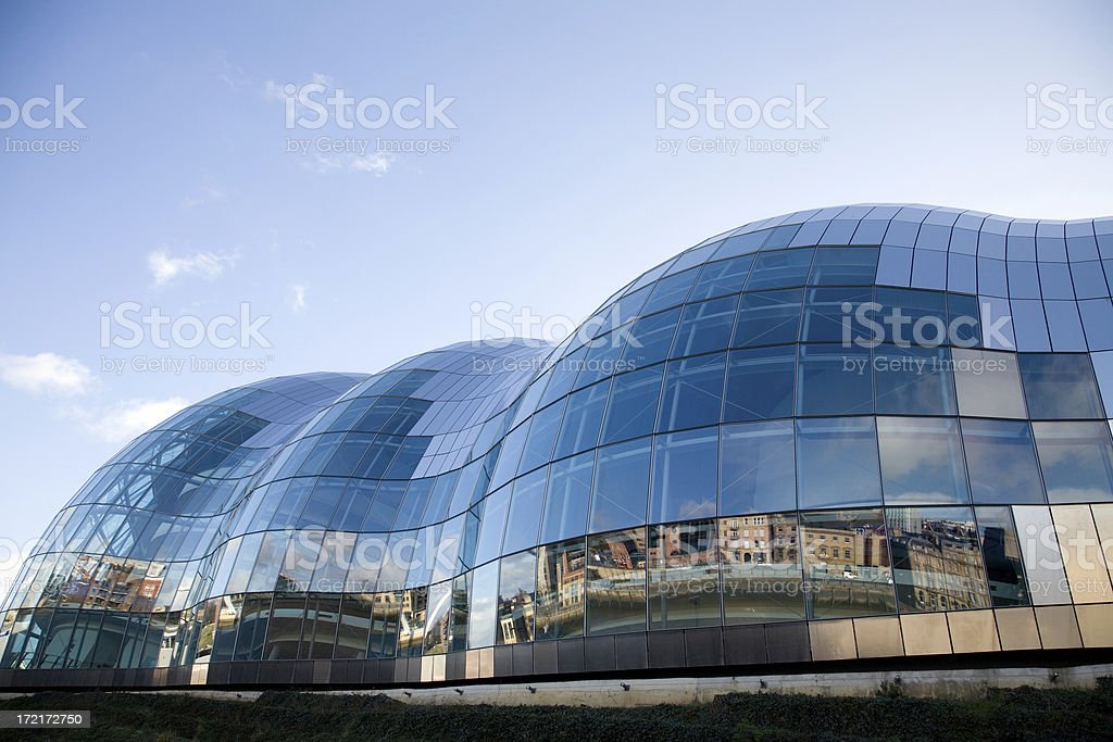 Reflections in a glass facade 2 stock photo