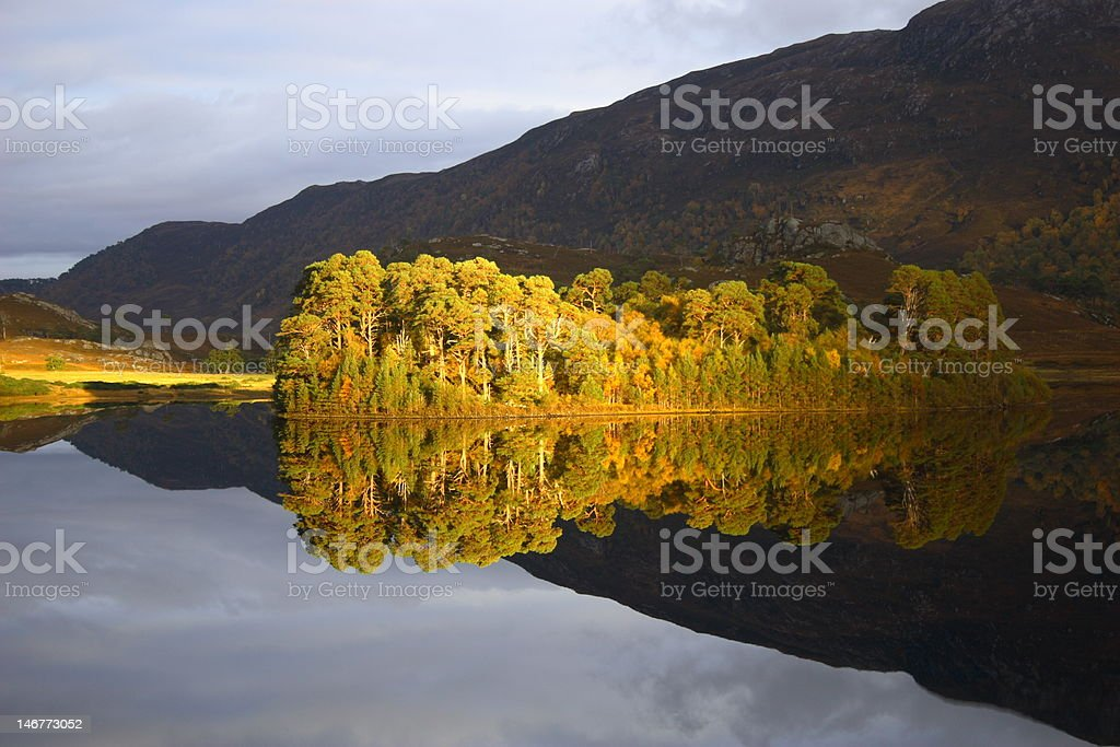 Reflections in a Scottish Loch royalty-free stock photo