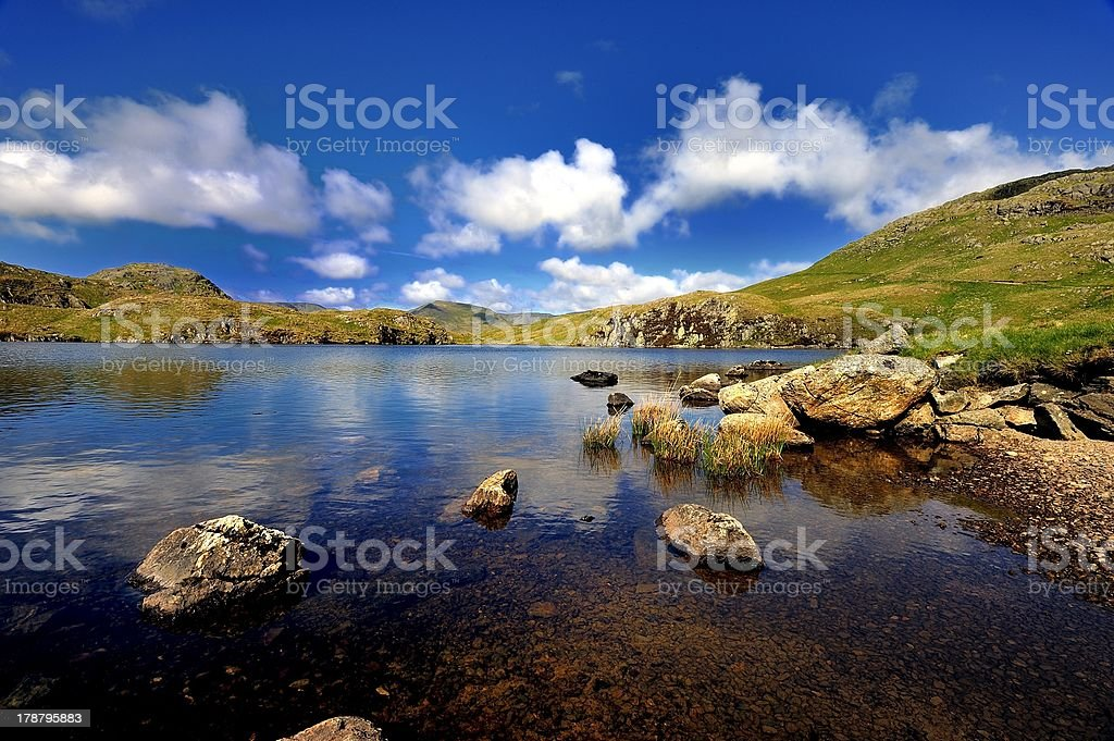Reflections in Angle tarn royalty-free stock photo