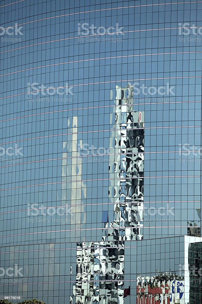 Reflections in glass building royalty-free stock photo