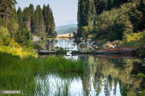 Kimball Lake on a sunny morning.