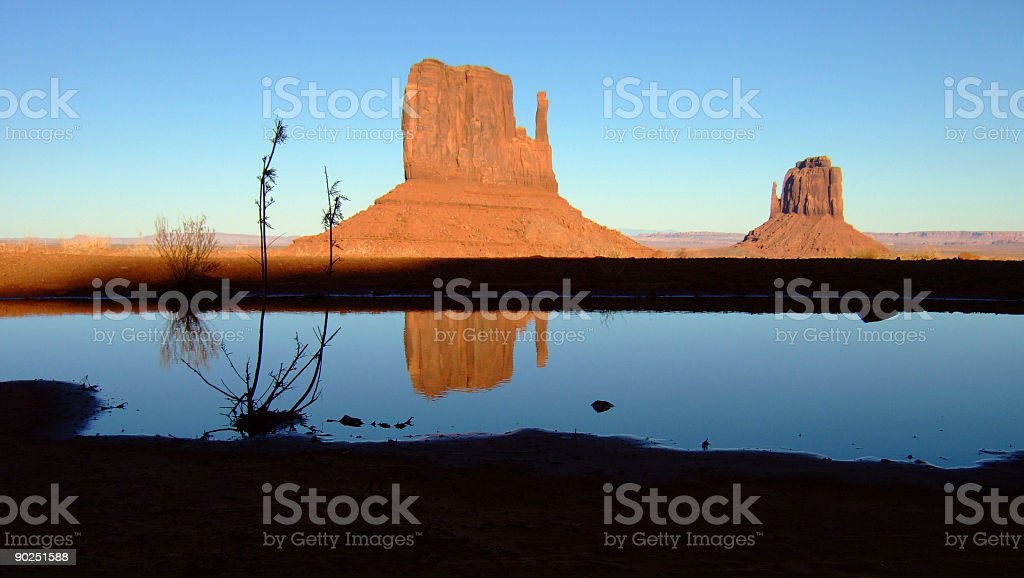 Reflections in Monument Valley royalty-free stock photo