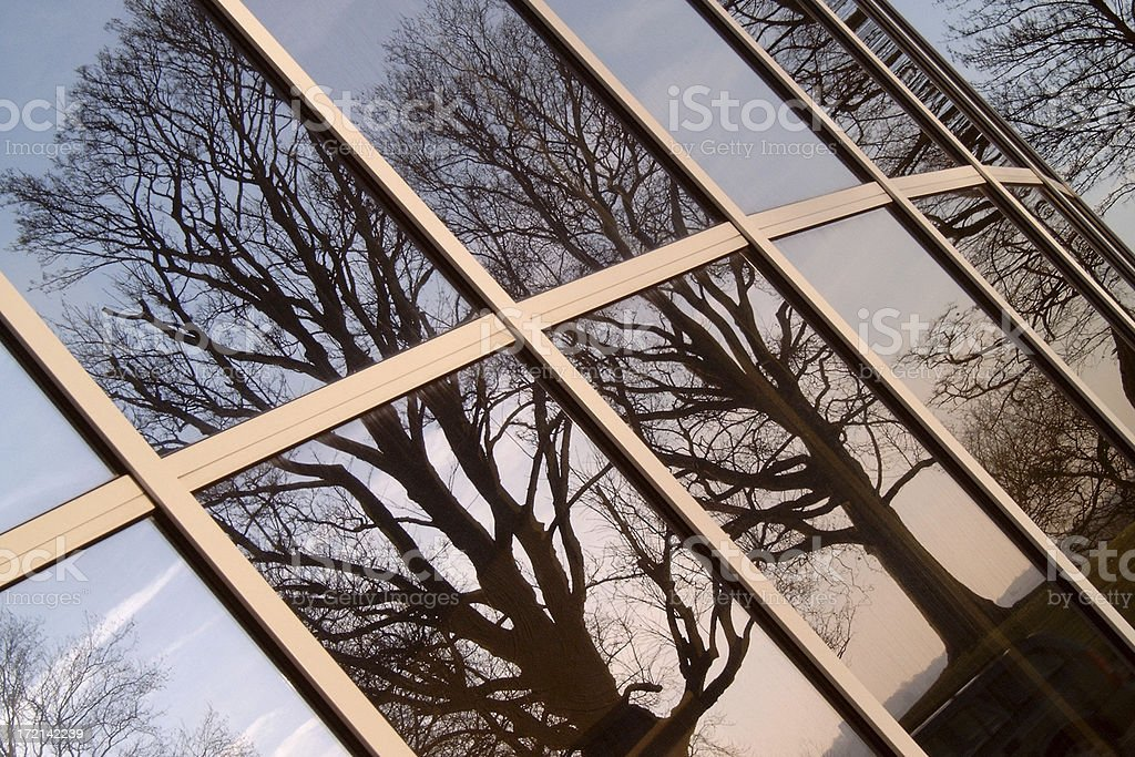 Reflections in office building # 1 royalty-free stock photo