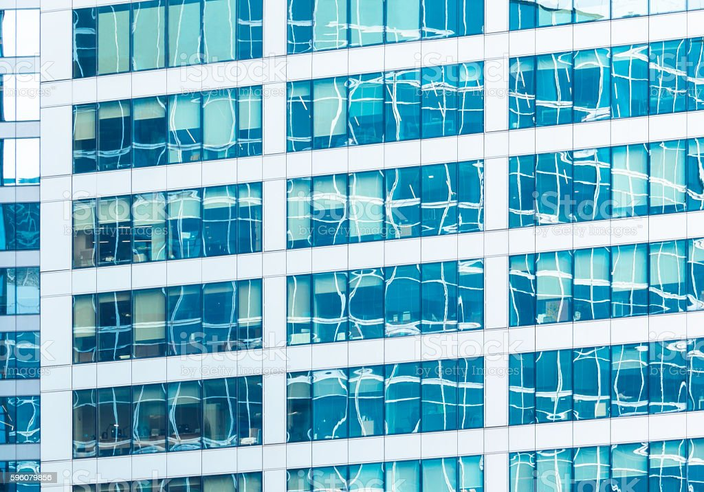 Reflections in office building royalty-free stock photo