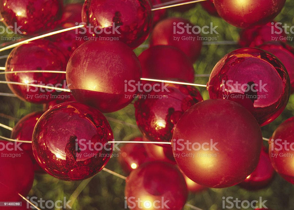 Reflections in Red Baubles royalty-free stock photo