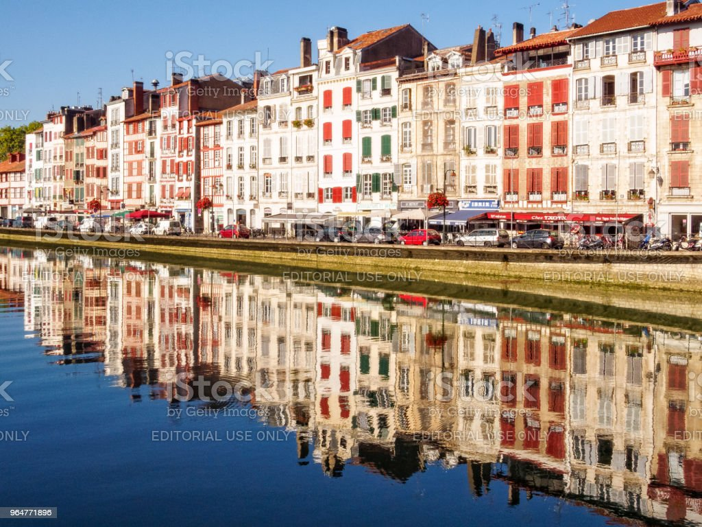 Reflections in the Nive River - Bayonne royalty-free stock photo