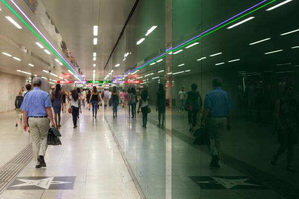 reflections in the underground station - wien foto e immagini stock