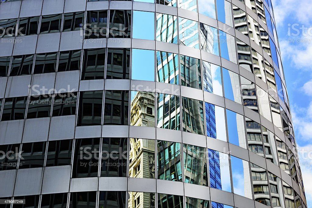 Reflections in the Xerox Center, downtown Chicago royalty-free stock photo