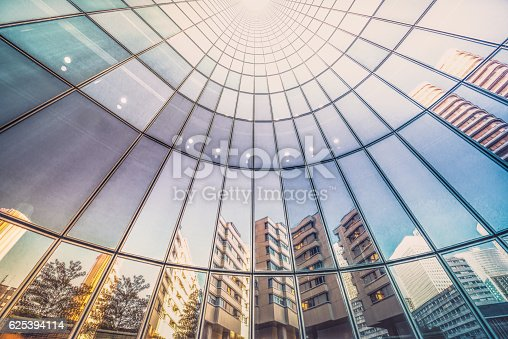 istock Reflections in tower facade 625394114