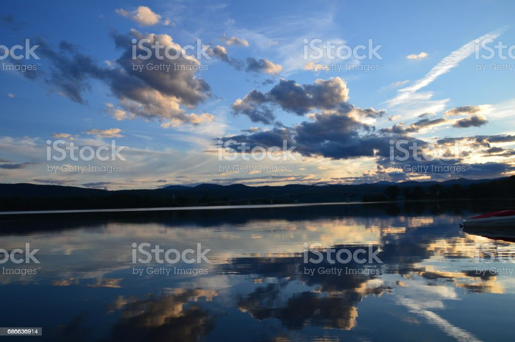Reflections - Lake Champlain royalty-free stock photo