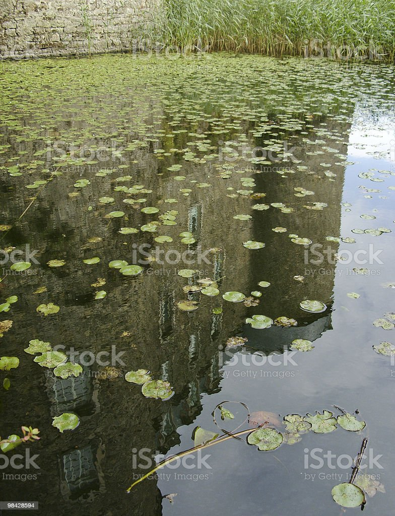 Reflections of a Castle royalty-free stock photo