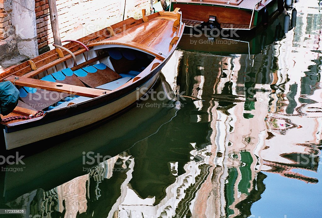Reflections of Boats royalty-free stock photo