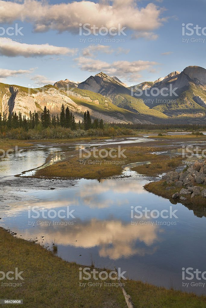 Reflections of clouds royalty-free stock photo