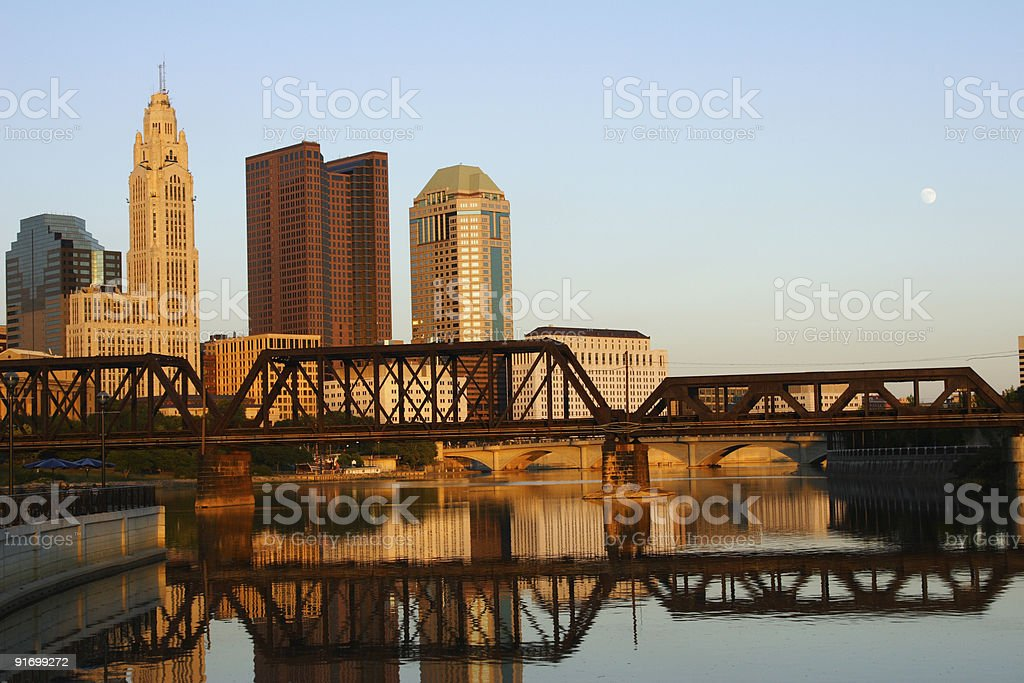 Reflections of downtown Columbus, Ohio royalty-free stock photo