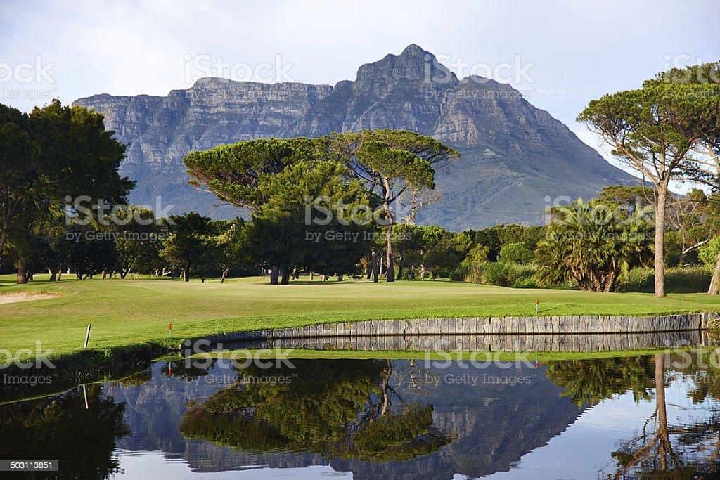Reflections of grandeur stock photo