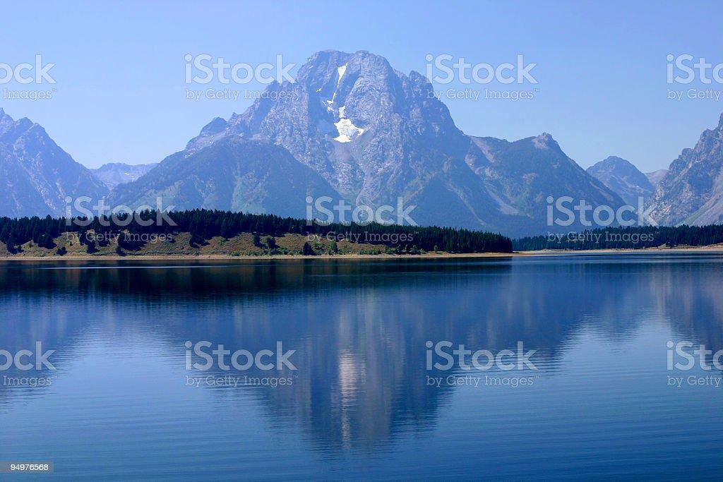 Reflections of Mount Moran royalty-free stock photo